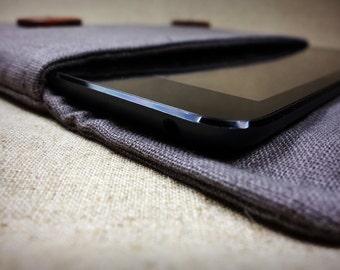 Handmade Original Natural Grey Amazon Kindle HD sleeve.bag.case.pouch