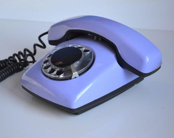 Blue Lavender Vintage Rotary Phone Retro Dial Phone Retro