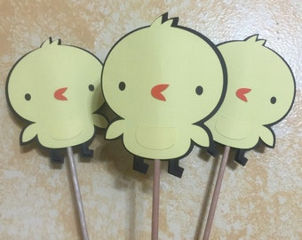 Set of 3 - Chick Table Decor