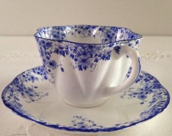Shelley Dainty Blue Tea Cup & Saucer