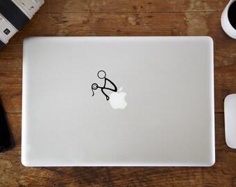 Stickman Toilet MacBook Decal