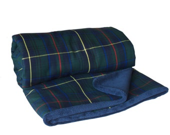 Scottish Blanket, Green Blanket, Tartan blanket, Dorm decor, Dorm bedding, Tartan fabric, Sofa Blanket, Travel Blanket, throw blanket,