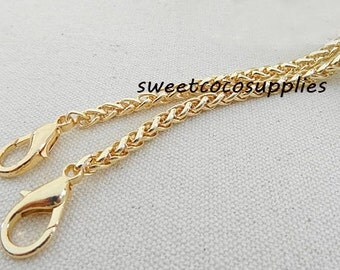 5mm wide light weight golden chains for purse,chain for bag