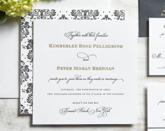 The Kimberlee Suite | Metallic Gold Foil + Letterpress Wedding Invitation SAMPLE