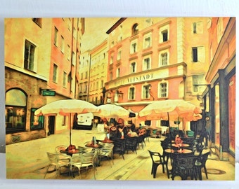 4 Photo Greeting Card Set - Streets and Architecture - Note Cards, Blank Cards for All Occasions, Art Photo Cards Travel Photography Austria