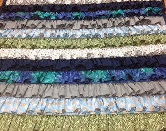 Handmade Ruffled Quilt