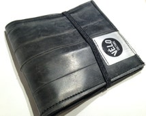 The Flatty  -  Upcycled Innertube Wallet- Velo Culture lining (bifold, billfold)