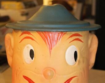 Vintage Smiling Elf Cookie Jar - Artist Oscar 1940s