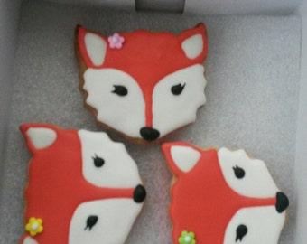 12 Fox sugar cookies
