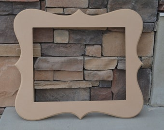16x20 Unfinished Whimsical Picture Frame. . .handmade 16x20 frame