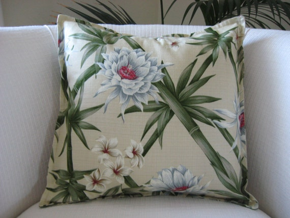 Throw Pillows Emoji : PILLOW COVER.Throw Pillow Cover. Tropical Design. Envelope
