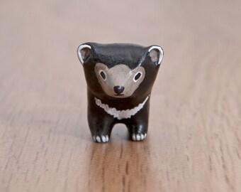 SALE!!! Asian bear animal totem - Polymer clay animal OOAK figurine