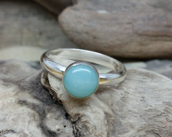 Handmade Sterling Silver Amazonite Ring