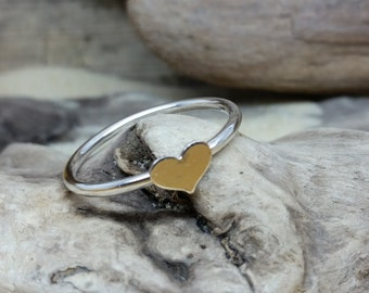 Handmade Sterling Silver Heart Ring