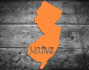 New Jersey Native Vinyl Sticker Car Window Door Bumper Decal Pride Home NJ
