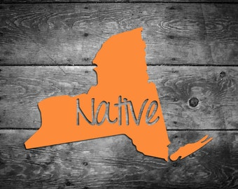 New York Native Vinyl Sticker Car Window Door Bumper Decal Pride Home NY NYC