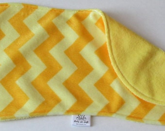 Burp Cloth - Yellow Burp Cloth - Minky Burp Cloth - Modern Burp Cloth