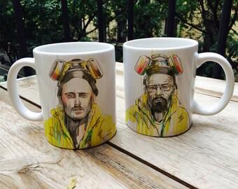 Pack 2 mugs Breaking Bad - Walter White  Jesse Pinkman Tribute