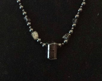 Protective and Nurturing Black Tourmaline and Jadper Necklace! !!!