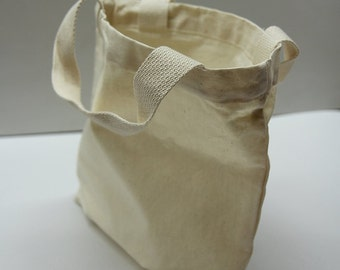 "11"" * 13"" Plain unbleached Cotton Oxford Tote Bag/ Market bag/ Eco friendly cotton fabric / Style#101"