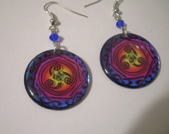 Multicolor Earrings Transparent with Gift Envelope