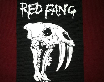 Red Fang Cloth Punk Patch