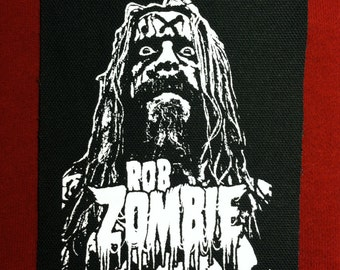 Rob Zombie Cloth Punk Patch