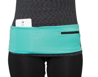 Turq w/ Black Hip Band/ Fanny Pack/ Waist Pack Turquoise