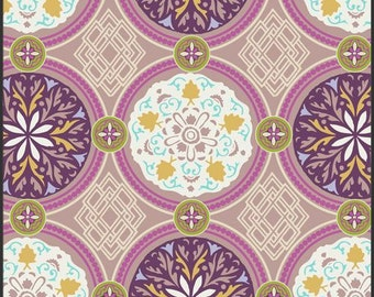 Medallion Iron OASIS PALETTE  by Art Gallery Fabrics - purples, gold and deep teal - Choose Your Length!