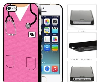 RN Nursing Scrubs (Pink)  Phone Case For iPhone 4,4s,5,5s,5C,6,6 Plus, Samsung Galaxy, S3,S3 Mini,S4,S4,Mini,S5,Note 2,Note 3