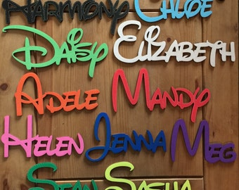 Disney wooden letters, Personalised Disney names, made to order, only 99p per letter, wall art and craft, wooden letters PAINTED FREE