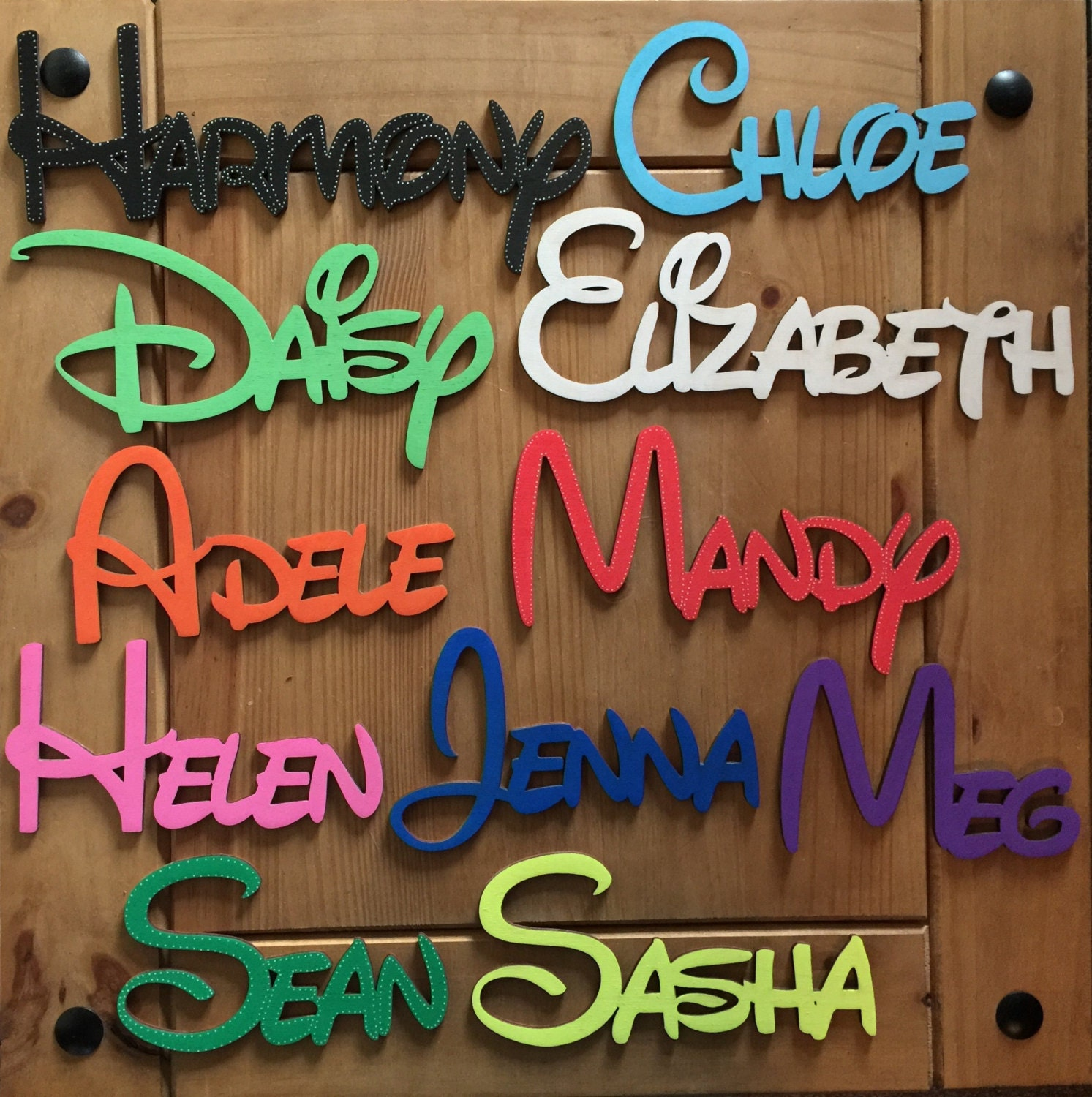 Disney Wooden Letters Personalised Disney Names Made To