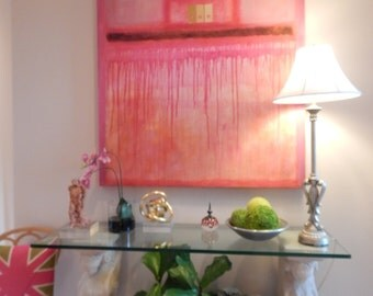 """Huge (60"""" X 48"""") Original Abstract Paintings by Pamela Qarbaghi"""