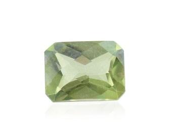 Mystic Green Topaz Loose Gemstone Octagon Cut 1A Quality 8x6mm TGW 1.50 cts.