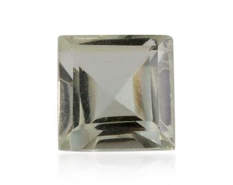 Green Amethyst Square Cut Loose Gemstone 1A Quality 8mm TGW 2.20 cts.