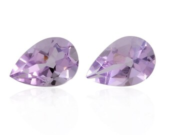 Pink Amethyst Pear Cut Set of 2 Loose Gemstones 1A Quality 9x6mm TGW 1.95 cts.