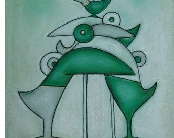 Beak rattles / beaks-rattling