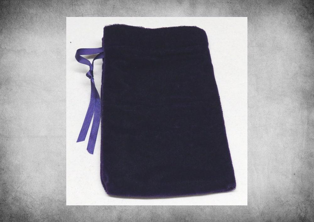 plush velvet 4x6 purple drawstring bag great for