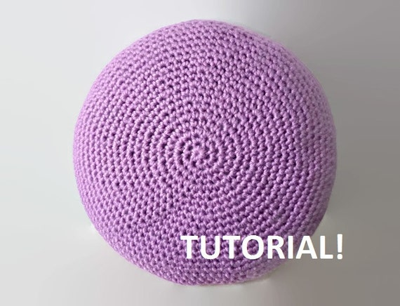 Crochet Bean Bag Tutorial : DIY Tutorial Crochet Pillow Floor Cushion Pouf Poof by ...