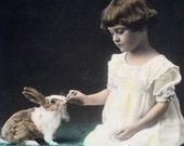 Vintage 1920s Family Pets Print