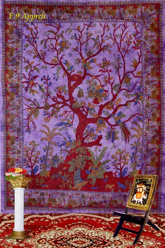 Hippie tree tapestries tree of life tapestry hippy