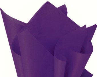 PURPLE Tissue Paper 24 Sheets Premium Tissue Paper for Craft Projects, Gift Wrapping, and DIY