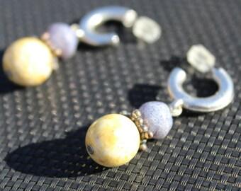 Yellow earrings, yellow drop earrings, canary yellow earrings, yellow gold drop earrings, yellow dangle earrings FREE SHIPPING!