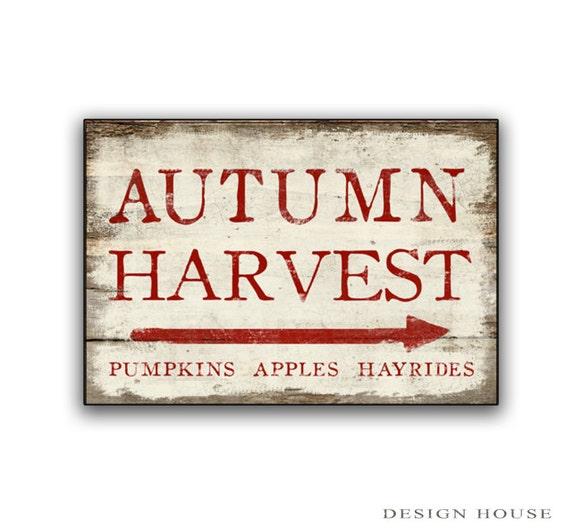 Autumn Harvest Wooden Sign Autumn Signs