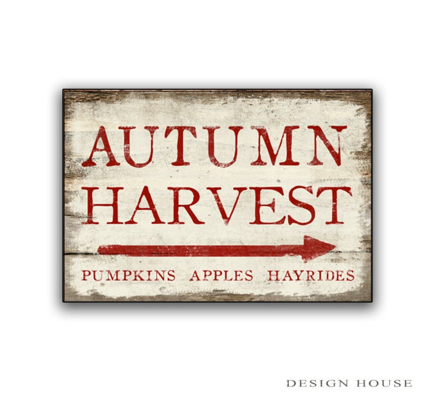 Autumn Harvest wooden sign Autumn signs Fall decor Fall signs