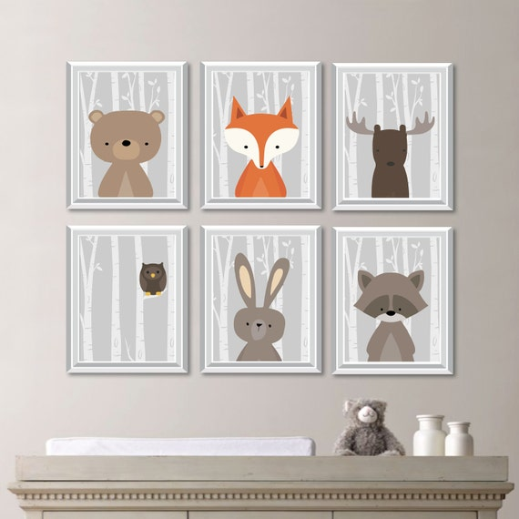 baby boy nursery art woodland nursery art woodland nursery. Black Bedroom Furniture Sets. Home Design Ideas