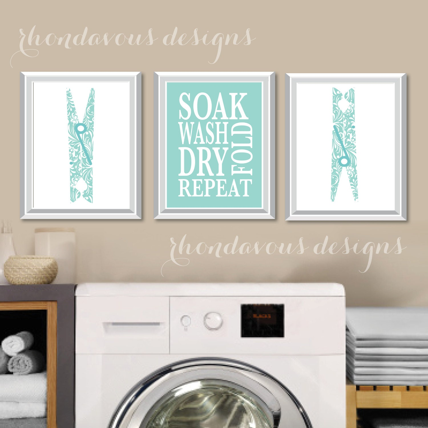 Laundry room art | Etsy
