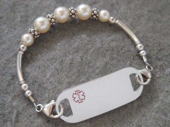 womans alert bracelet allergy by designermedicalid