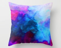 Unique watercolor pillows related items Etsy