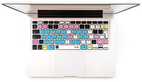 Adobe Premiere Pro Keyboard Sticker with shortcuts & hotkeys for Macbook Mac PC Windows